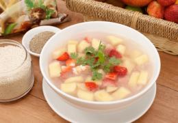 Món súp trái cây kích thích bé ăn trái cây