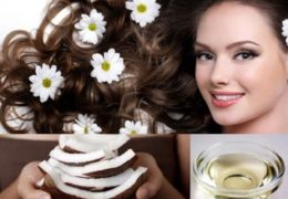 Dưỡng tóc bằng dầu dừa giúp mang lại độ óng mượt cho tóc.