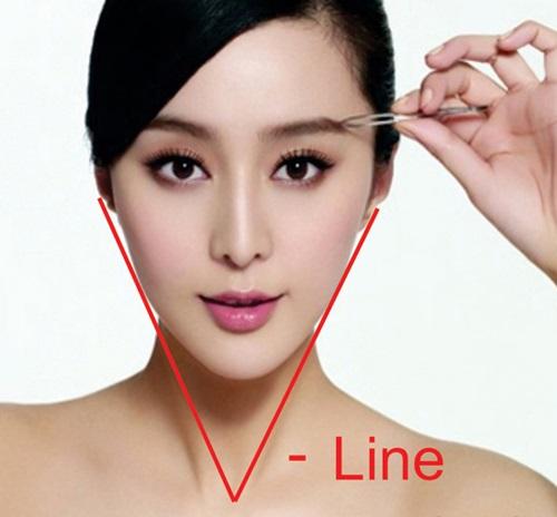 Khuôn mặt V-line là mơ ước của nhiều chị em