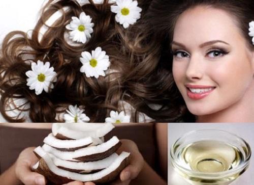 Dầu dừa giúp phục hồi mái tóc hư tổn