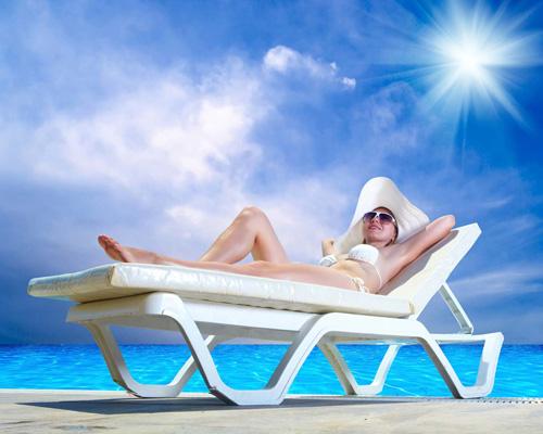 Tắm nắng thường xuyên cũng là cách để tăng chiều cao