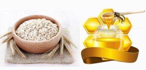 Sạch mụn trên da với mật ong, bột yến mạch