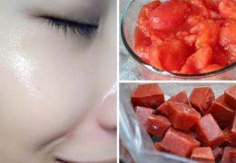 Đá lăn cà chua là mặt nạ làm đẹp da hiệu quả
