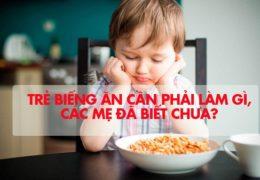 Trẻ biếng ăn cần phải làm gì, các mẹ đã biết chưa?